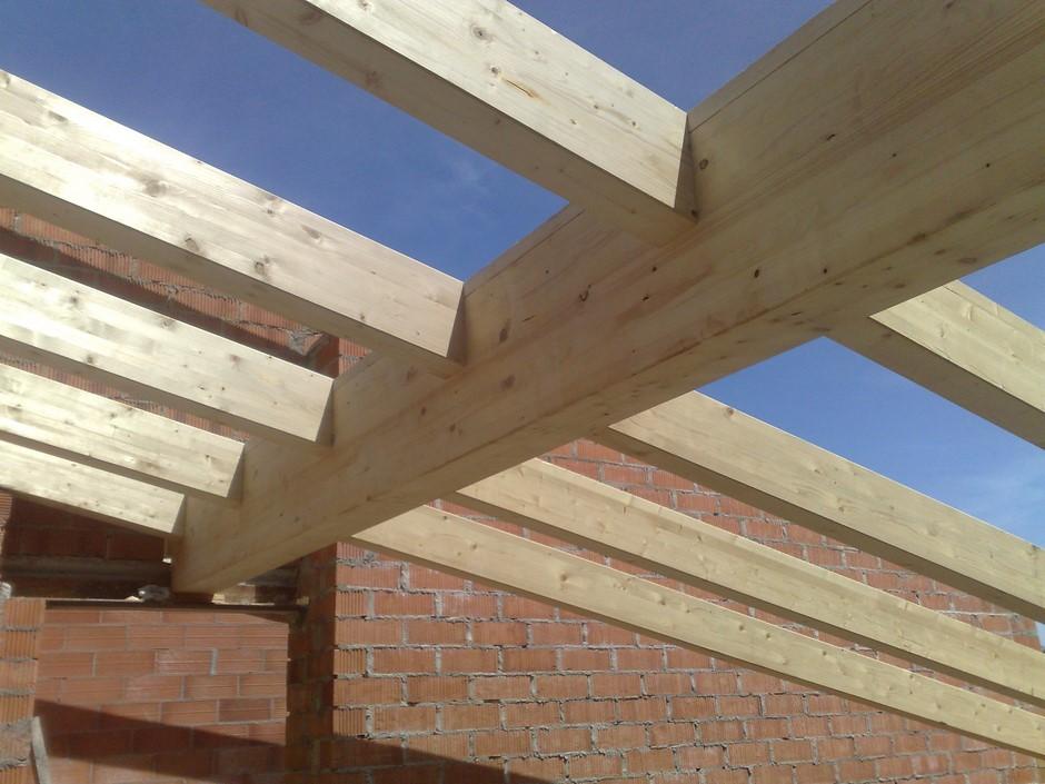 Forjados de madera cubiertas gonz lez for Como hacer tejados de madera